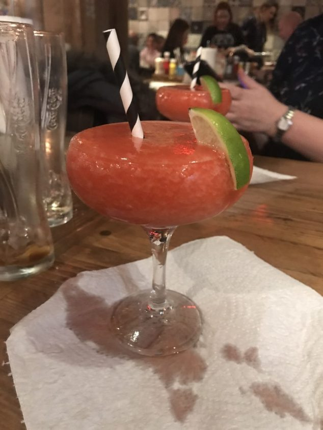 Frozen strawberry daiquiri - Burgers and Beers Grillhouse